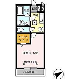 コートクレール[105号室]の間取り