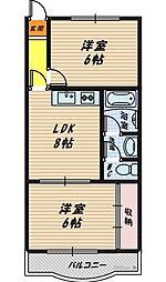 大阪府大阪市鶴見区放出東1丁目の賃貸マンションの間取り