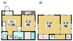 [一戸建] 東京都杉並区成田東1丁目 の賃貸【東京都 / 杉並区】の間取り