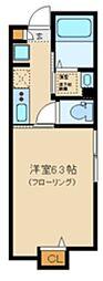 サニーヒルコート中野坂上 1階1Kの間取り