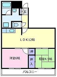 松ヶ丘芙蓉ハイツ[2階]の間取り
