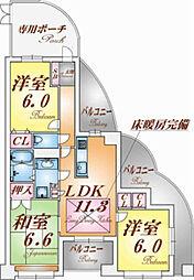 エフコート須磨高倉町[1階]の間取り