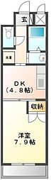 大阪府堺市美原区真福寺の賃貸マンションの間取り