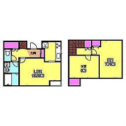 [テラスハウス] 神奈川県横浜市港北区菊名7丁目 の賃貸【/】の間取り