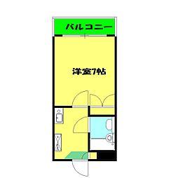 プロムナード三ッ沢[306号室]の間取り