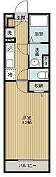西武新宿線 新所沢駅 徒歩12分の賃貸アパート 1階1Kの間取り