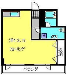安田屋ビル[4B号室]の間取り