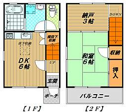 [一戸建] 兵庫県神戸市須磨区大田町6丁目 の賃貸【/】の間取り