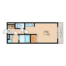 滋賀県近江八幡市古川町の賃貸アパートの間取り