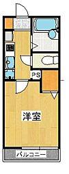 ユーハコート溝口エー棟[2階]の間取り