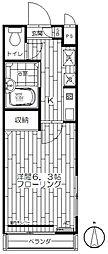 カーサカスターニャ[2階]の間取り