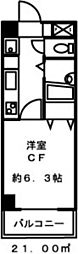 ドミール板橋[207号室]の間取り