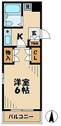 京王相模原線 京王多摩センター駅 バス10分 恵泉女学園大入口下車 徒歩1分の賃貸マンション 4階1Kの間取り