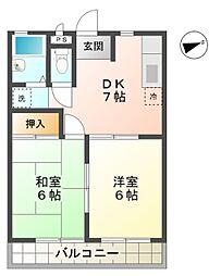愛知県豊田市小坂町5丁目の賃貸マンションの間取り