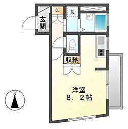 JRS.M(ジェイアールエス.エム)[3階]の間取り