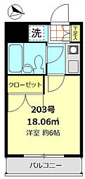 赤塚マンション[2階]の間取り