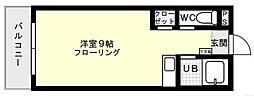 プライムコート平尾[202号室]の間取り