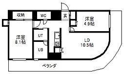 AMS TOWER[8階]の間取り