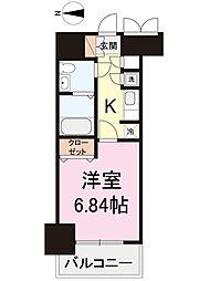 東京都台東区日本堤2丁目の賃貸マンションの間取り