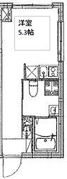 都営三田線 板橋本町駅 徒歩4分の賃貸マンション 5階ワンルームの間取り