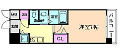 大阪WESTレジデンス[3階]の間取り