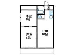 神奈川県座間市入谷4の賃貸マンションの間取り