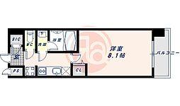 近鉄南大阪線 河堀口駅 徒歩7分の賃貸マンション 6階1Kの間取り