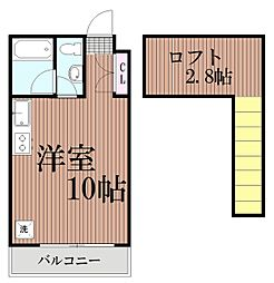 東京都品川区大井5丁目の賃貸アパートの間取り