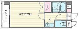 キャンパスシティ箱崎[634号室]の間取り