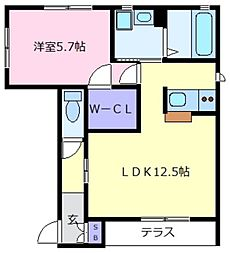 シャルマンメゾン[1階]の間取り