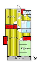 カームヤタ藤第1[2階]の間取り