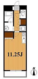 千葉県船橋市東船橋2丁目の賃貸マンションの間取り