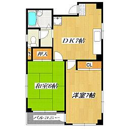 東豊マンション小岩[2階]の間取り