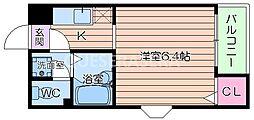 FEEL UMEDA[4階]の間取り