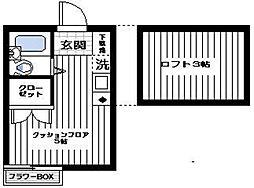 パレス杉田III[2階]の間取り