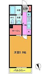 東船橋3丁目共同住宅B棟[102号室]の間取り