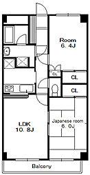 フローラ本八幡[3階]の間取り