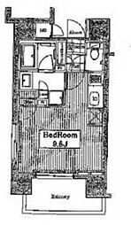 JR山手線 田端駅 徒歩17分の賃貸マンション 5階ワンルームの間取り