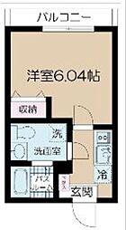都営大江戸線 光が丘駅 徒歩9分の賃貸マンション 3階1Kの間取り