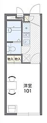 小田急多摩線 栗平駅 徒歩30分の賃貸マンション 1階1Kの間取り
