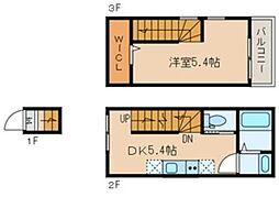 リヴ桜台 2階1DKの間取り