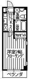 メゾンTS[102号室]の間取り
