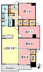 PIER倉敷[402号室]の間取り