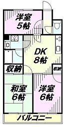 埼玉県所沢市くすのき台1丁目の賃貸マンションの間取り