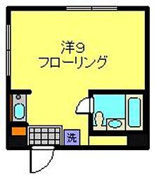神奈川県横浜市磯子区岡村5丁目の賃貸マンションの間取り