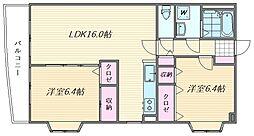 ルミエール箱崎[6階]の間取り