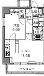 都営大江戸線 新御徒町駅 徒歩4分の賃貸マンション 10階1LDKの間取り