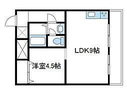 神奈川県海老名市国分南2丁目の賃貸マンションの間取り