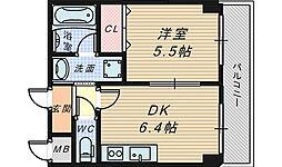 ファイブコート宿院[2階]の間取り