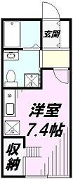 埼玉県狭山市広瀬東2丁目の賃貸アパートの間取り